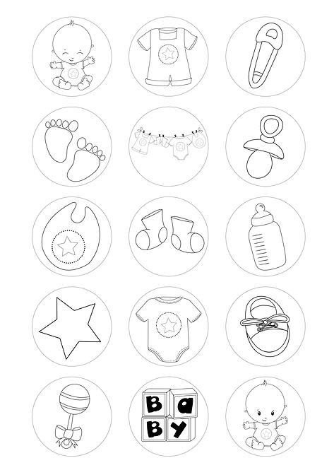 CÍRCULOS DE 5 CM | Desenhos para colorir | Bebé