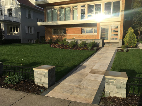 Full front and backyard transformation in Evanston, IL