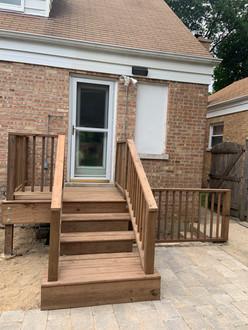 Paver Patio and Cedar Deck/Landing, Evanston IL