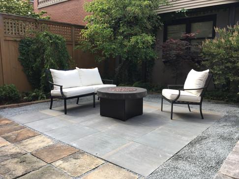 Stone patio designed and instaleld in Wilmette, IL