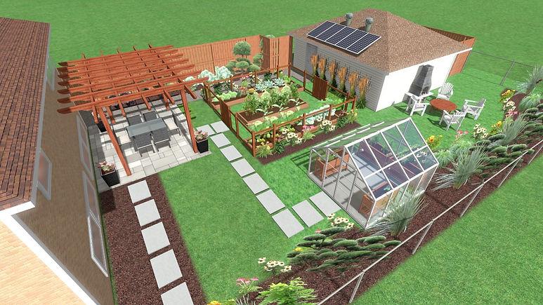 Evanston urban farm landscape design