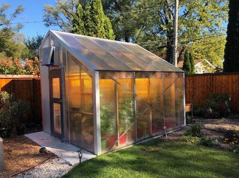 Solar Passive Greenhouse designed and installed in Wilmette, IL