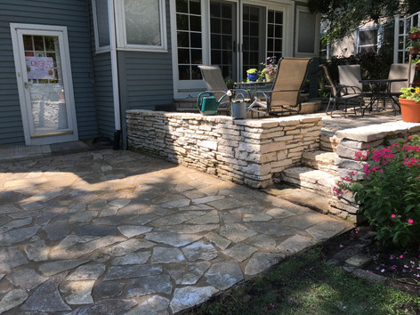 Patio and backyard planting in Evanston, IL