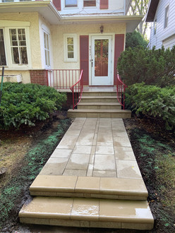 Paver Walkway & Front Stoop Refacing, Evanston IL