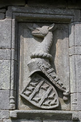 Blason des Callac sur la Chapelle Saint Maudé