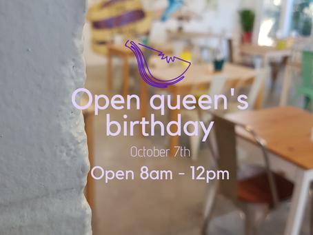 Open Queen's Birthday