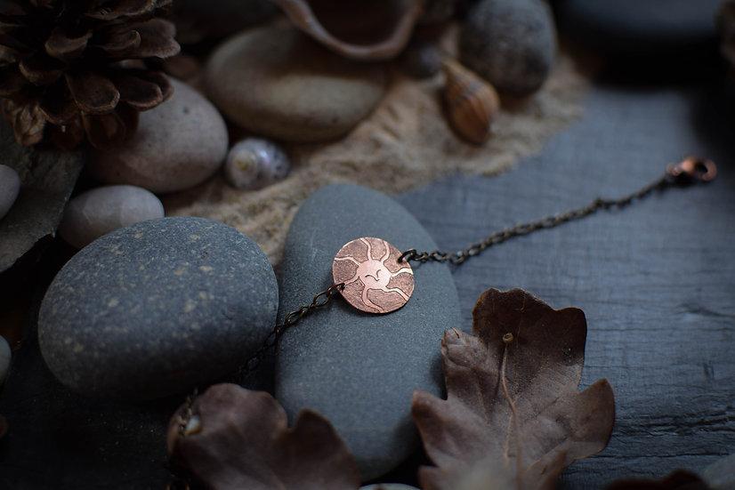 Bracelet ~Médaillon Solaire~ Cuivre