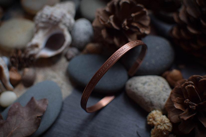 Bracelet ~Ostara~ Cuivre martelé