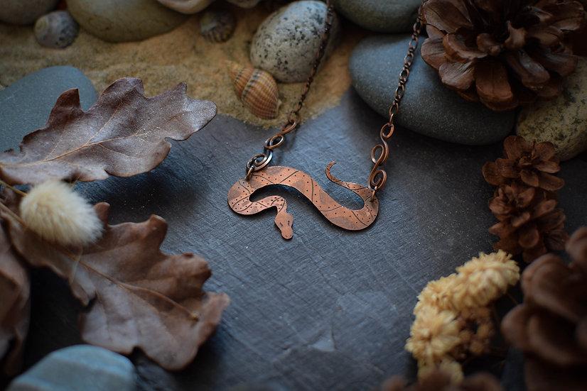 Collier ~Totem du Serpent~ Cuivre