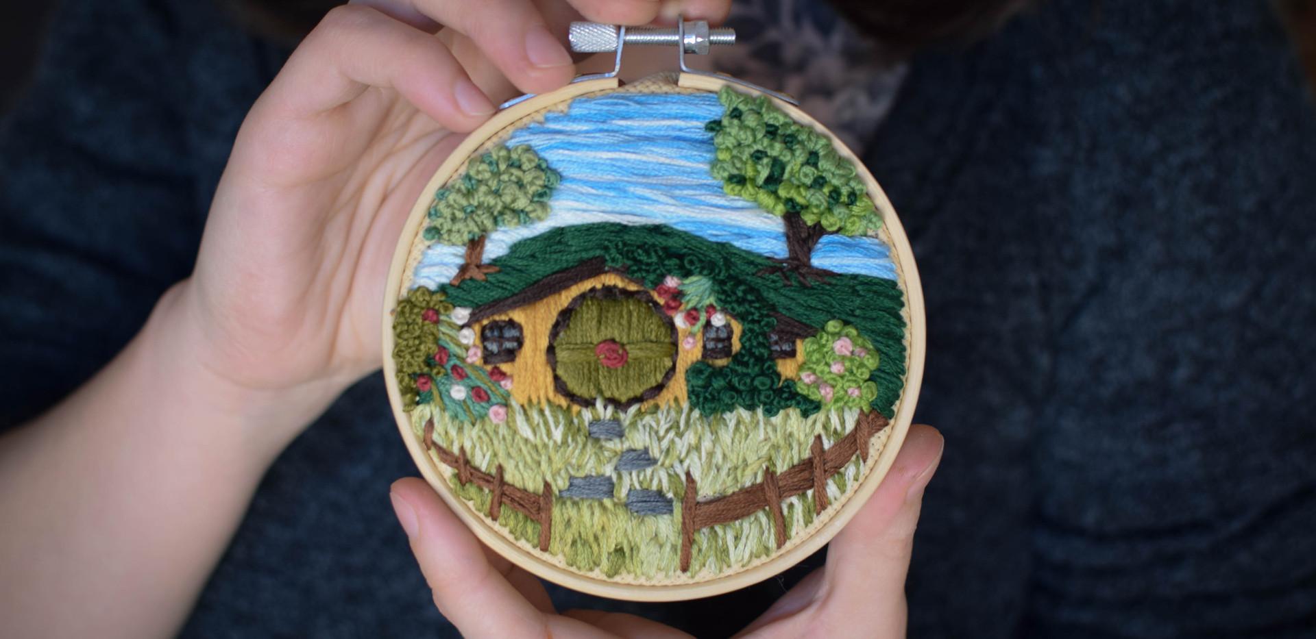 Broderie décorative ~Cul-de-Sac~ artisanale