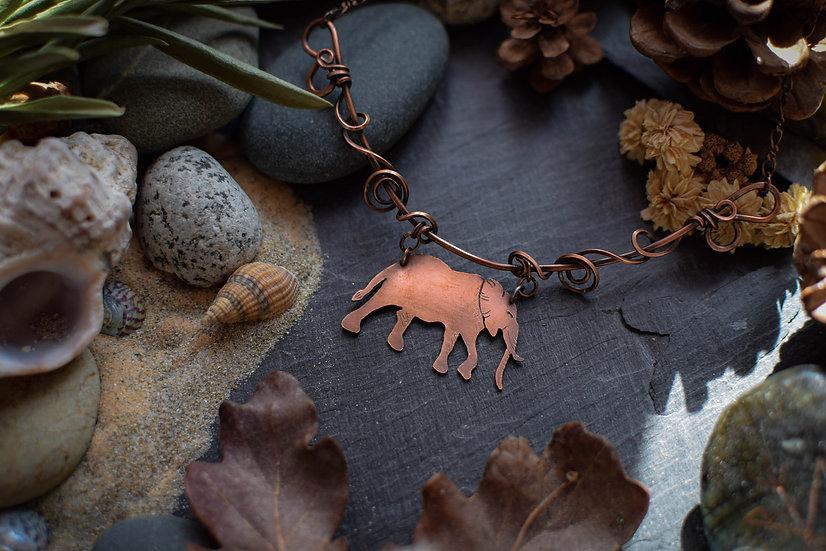 Collier ~Totem de l'Eléphant~ Cuivre