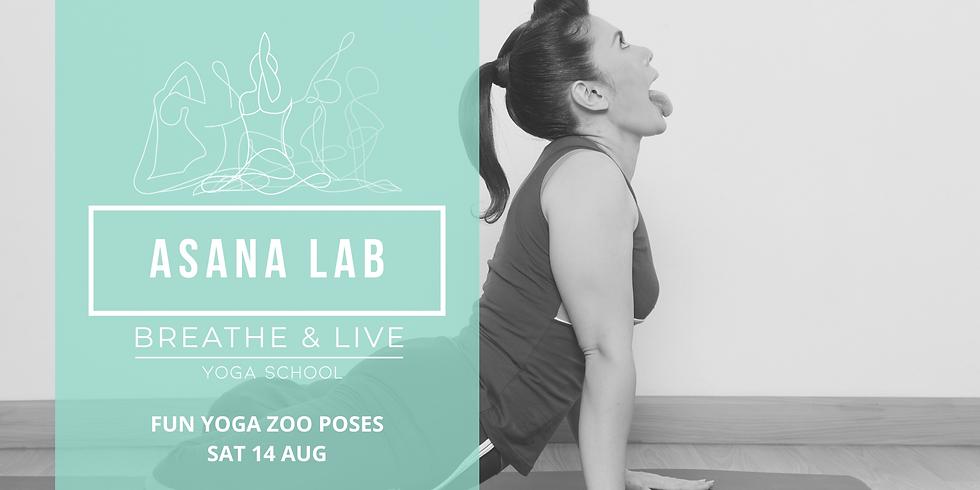 ASANA LAB | Fun time!! Yoga ZOO poses!