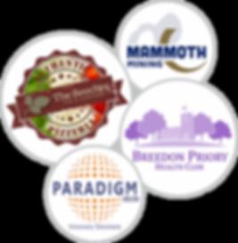 Logos created by C J Lewis Printers