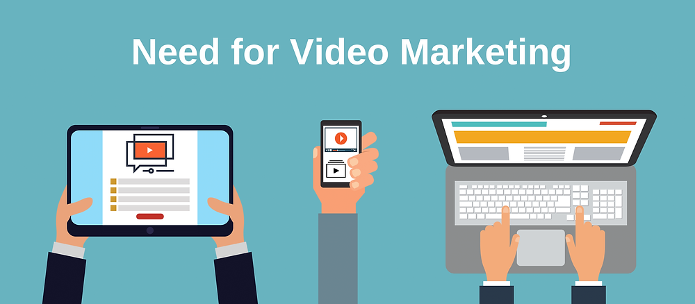 What is Video Marketing? I'm sure you know the meaning of it but still I'll go ahead with explaining you what exactly it is.   Video Marketing is a video used for promotional purposes like corporate films, training films, digital ads and many more. They are short videos with duration of 1-5 minutes for gaining exposure on platforms like Facebook, Instagram, Website, YouTube and many more.