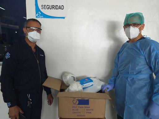 ADP dona pruebas rápidas, ventiladores e indumentaria de bioseguridad a hospitales de ARS SEMMA