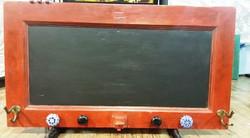 Red chalkboard