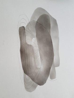 2018 | fusain et pierre-noire sur papier | 40 x 30