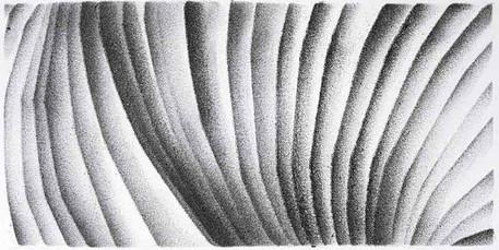 2017 | re-pli | fusain et pierre noire sur papier | 11 x 22