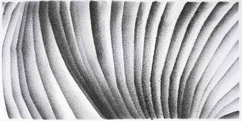 2017   re-pli   fusain et pierre noire sur papier   11 x 22