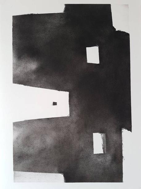 2017 | fusain et pierre noire sur papier | 40 x 30