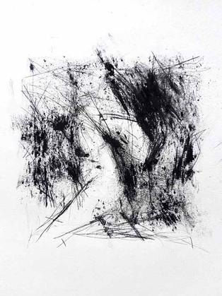 2017 | fusain et2017 | pierre noire sur papier | 13 X 13