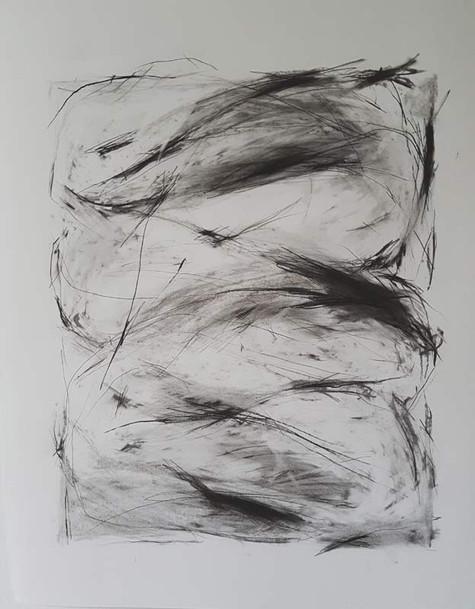 2017 | pierre noire et fusain sur papier | 65 x 50