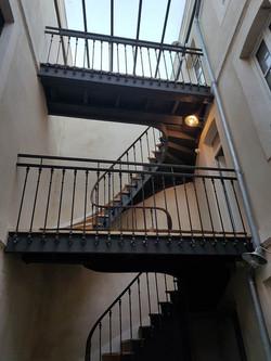 renovation de la cage d'escalier