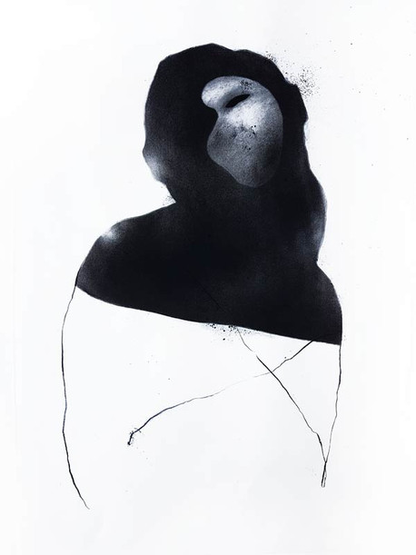 2019 | fusain graphite et pierre noire sur papier | 43 x 62