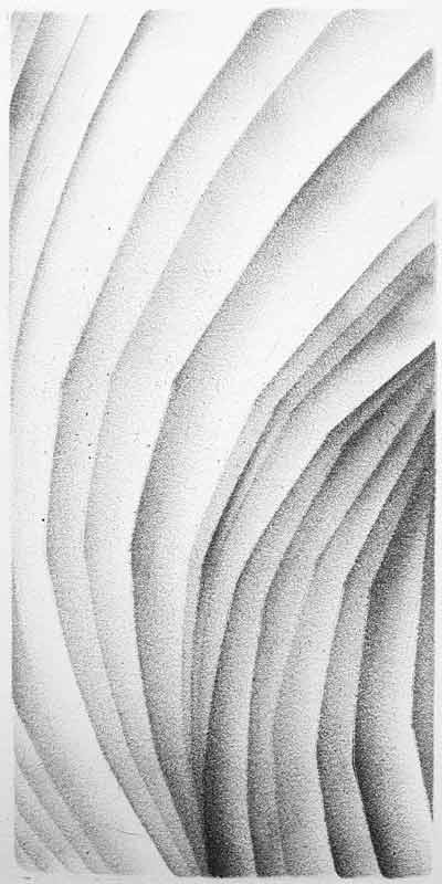 2017 | re-pli | fusain et pierre noire sur papier | 22 x 11