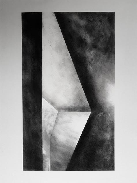 2017 | fusain et pierre noire sur papier | 65 x 50