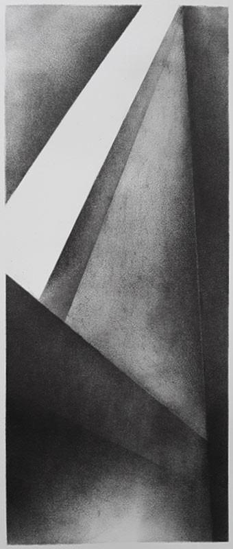 2017   fusain et pierre noire sur papier   40 x15