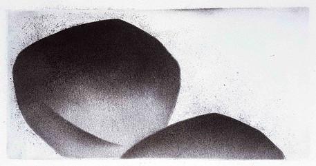 2018 fusain et pierre-noire sur papier | 11 x 20