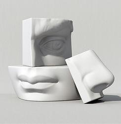 Partes de la cara en 3D