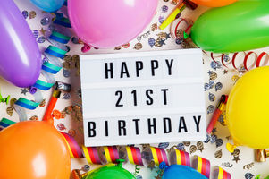 Happy 21st birthday celebration message