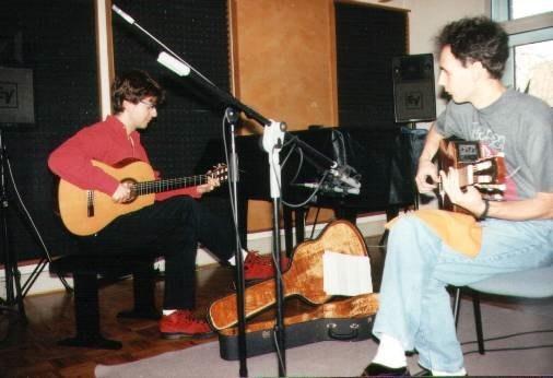 1994 Madmo im Studio (mit Alex Alves, Gitarre)