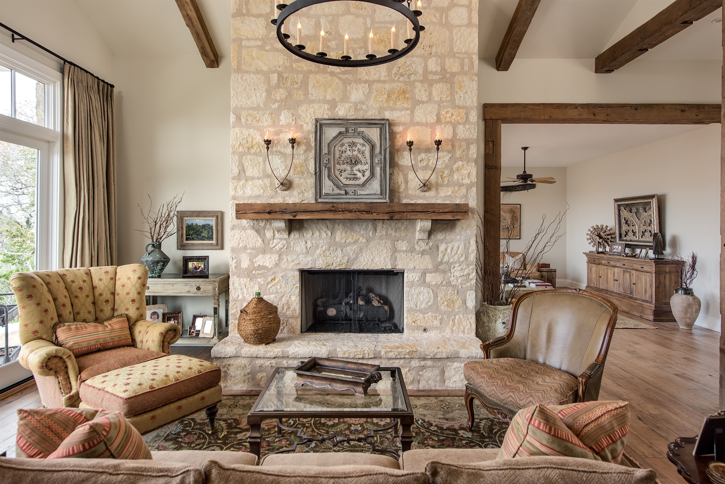 Living Room & Fireplace