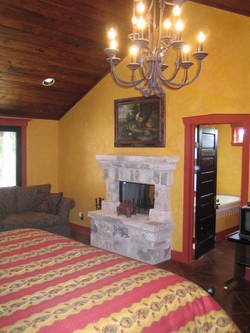 Master Bedroom with Fireplace After