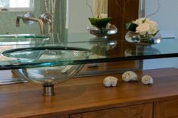 Master Bath Glass Sink