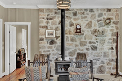 Wood Burning Stove in Living After