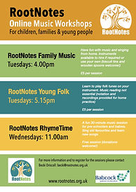 RootNotes Zoom Workshops for Children an