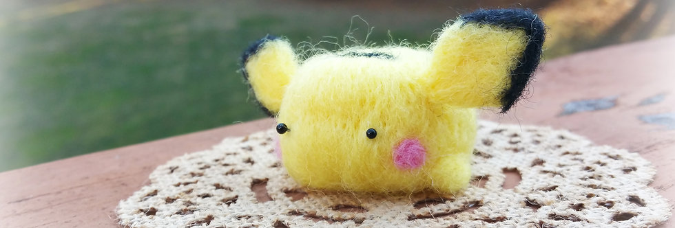 Cute Needle Felted Pokemon - Pichu