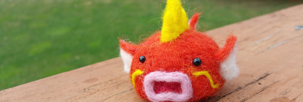 Cute Needle Felted Pokemon -Magikarp