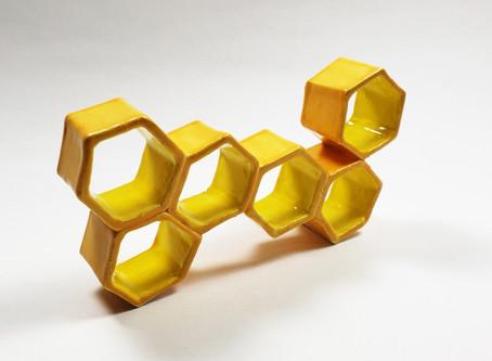 Honey Bee Comb Decor