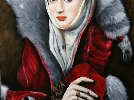 A Lady with Raccoon Fur Wrap
