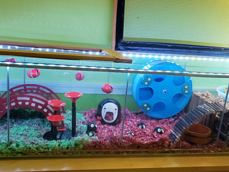 """Studio Ghibli """"Spirited Away"""" Themed Cage For My Hamster"""