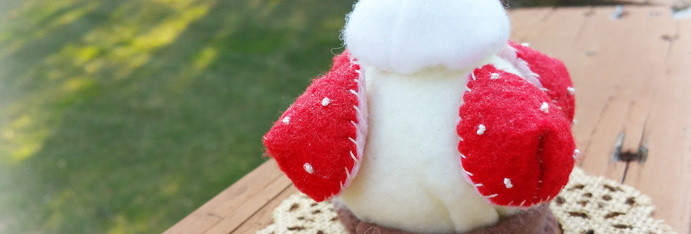 Cute Felted Sweets, Home decor -Vanilla Strawberry Cupcake