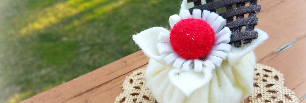 Cute Felted Sweets, Home decor -Pouch Snack