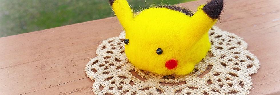 Cute Needle Felted Pokemon - Pikachu