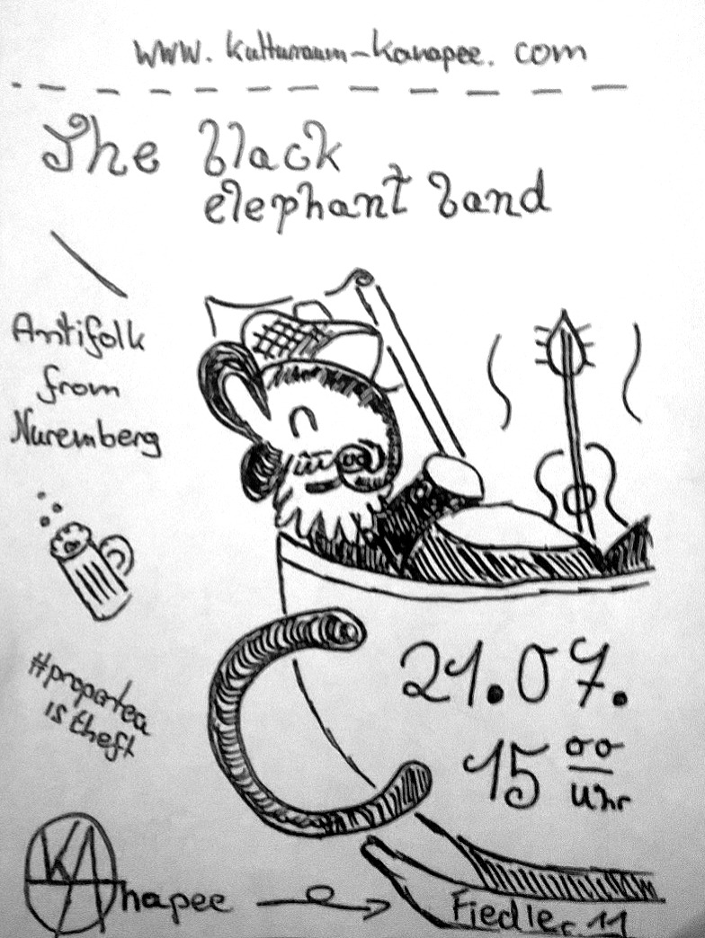 Flyer Black elephant band