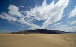 Panamint over Sand Dunes